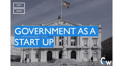 Government as a startup